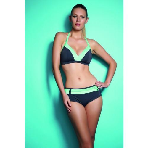 cbe153e670 SAMBA merevítő nélküli nyakba kötős bikini felső - ónszürke | Bikini ...