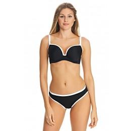 BACK TO BLACK merevítős előformázott szivacsos bikini felső