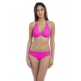 SUNDANCE merevítős nyakbakötős bikini felső - rózsaszín
