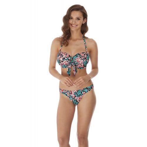 WATER MEADOW merevítős szivacsos vállpánt nélküli bikini felső