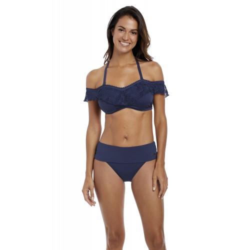 MARSEILLE merevítős bikini top - sötétkék