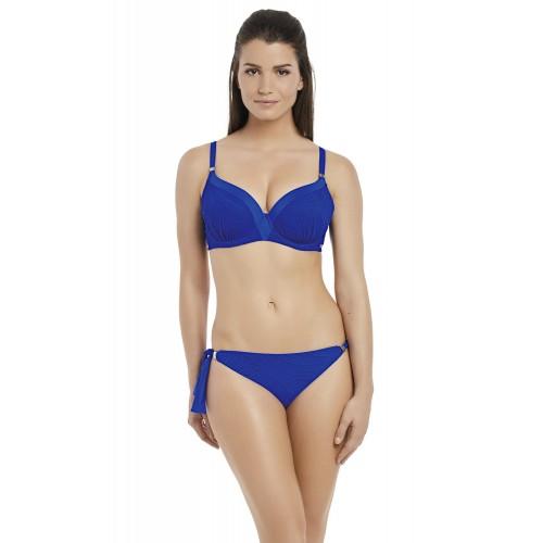 OTTAWA merevítős szivacsos bikini felső - kék
