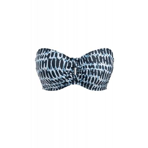 KOTU merevítős levehető pántos bikini felső - kék