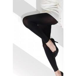 LONDON plus size lábfej nélküli harisnya 60den - fekete