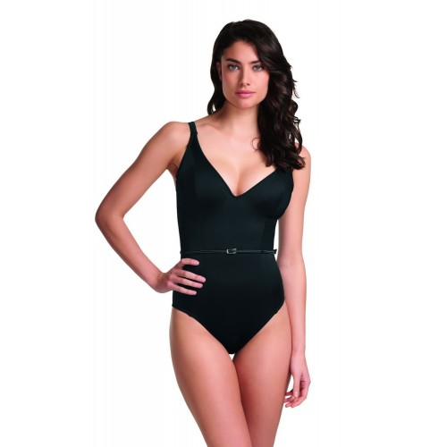 404aac2223 FEVER merevitős egyrészes fürdőruha - fekete | Egyrészes fürdőruha
