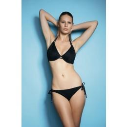 CHA CHA merevítős nyakba kötős bikini felső - fekete