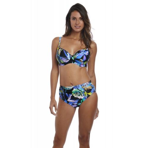 PARADISE BAY magasított derekú bikini alsó - kék