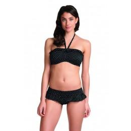 PIER merevitős levehető pántos bikini felső - fekete