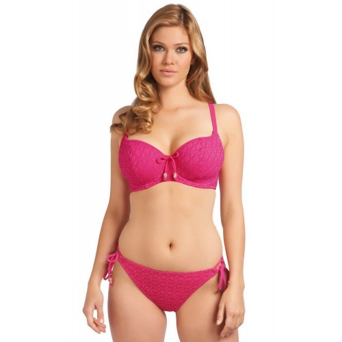SPIRIT oldaltkötős bikini alsó - rózsaszin