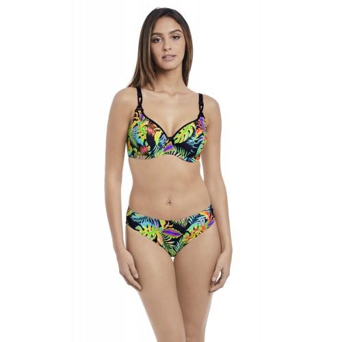 ELECTRO BEACH merevítős mélykivágású bikini felső