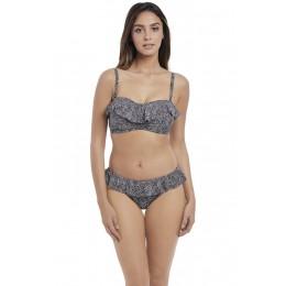 RUN WILD merevítős szivacsos levehető pántos bikini felső