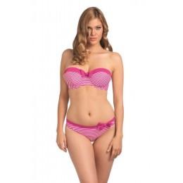 TOOTSIE merevítős levehető pántos bikini felső - rózsaszín