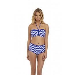 MAKING WAVES merevítős bikini felső - kék
