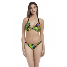 ELECTRO BEACH merevítős nyakbakötős bikini felső