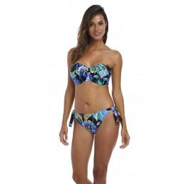 PARADISE BAY merevítős levehető pántos bikini felső - kék
