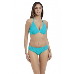 SUNDANCE merevítős nyakbakötős bikini felső - türkiz